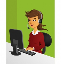 customer service woman vector image vector image
