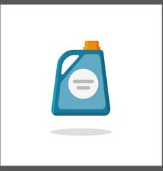 detergent bottle icon flat cartoon vector image vector image