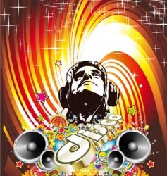 disco dance background vector image