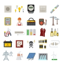 Energy power icons vector image
