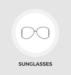 Sunglasses flat icon vector