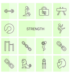 14 strength icons vector