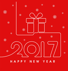 2017 happy new year gift vector image