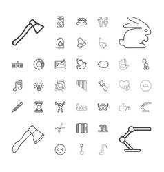 37 art icons vector