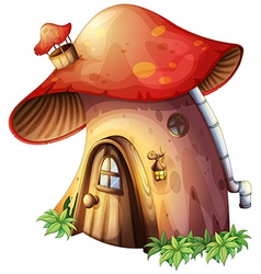 A mushroom house vector image vector image
