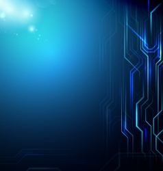 Abstract Lines Circuit Blue background vector
