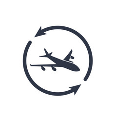 airline services - minimal modern icon vector image