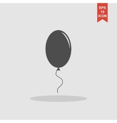 Balloon sign icon vector image