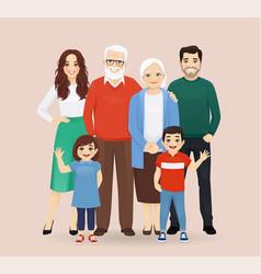 Big family portrait vector