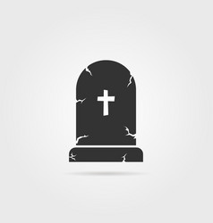 Black tombstone with shadow vector