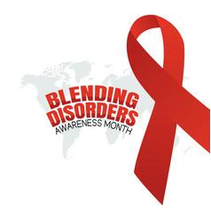 Blending disorders awareness month vector
