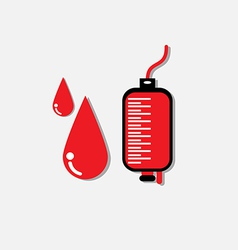 Blood donation medicine help hospital save life he vector