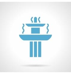Blue fountain glyph style icon vector image