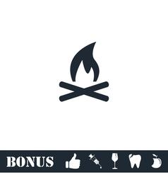 Bonfire icon flat vector image