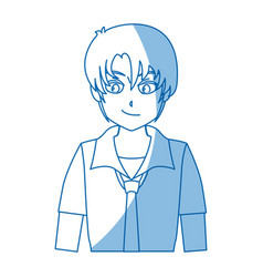 Boy teenager anime comic image vector