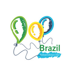 Brazil independence day with helium balloons vector