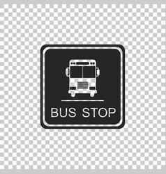 bus stop sign isolated on transparent background vector image