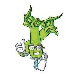 Businessman wasabi character cartoon style vector
