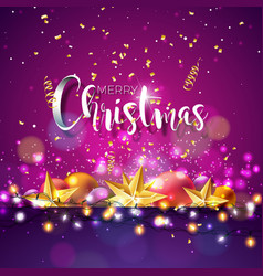 christmas and new year with vector image