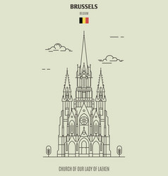 Church of our lady of laeken in brussels vector