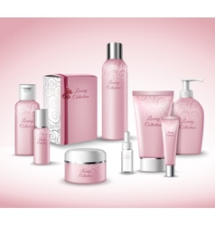 Cosmetic Packages Set vector image