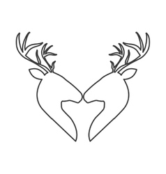 Couple of deer icon animal concept vector image