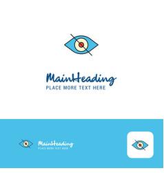 creative eye logo design flat color logo place vector image