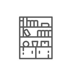 cupboard wardrobe furniture line icon vector image