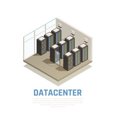Datacenter isometric composition vector