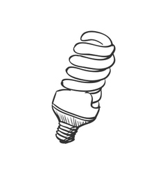 doodle Energy saving light bulb vector image
