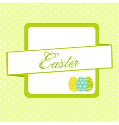 Easter banner background with eggs vector