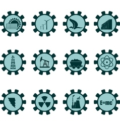 energy industrial icon set vector image