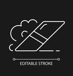 Eraser white linear icon for dark theme vector