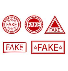 fake stamp set vector image