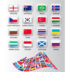 Flags different countries vector