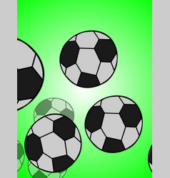 Football or soccer balls with motion trails vector