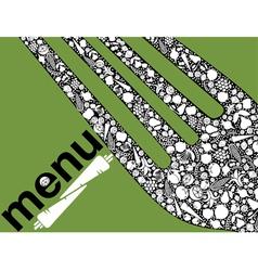 Fork design vector image