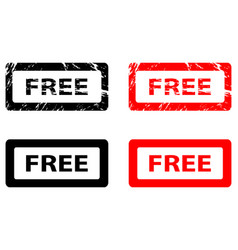 free rubber stamp vector image