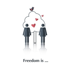 Freedom is vector image