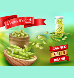 green beans poster vector image