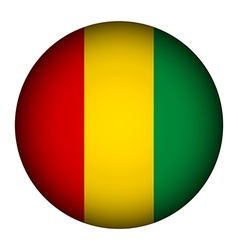 Guinea flag button vector image