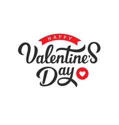 hand drawn lettering for valentines day vector image