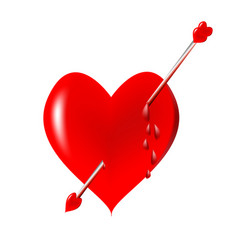 heart with an arrow vector image