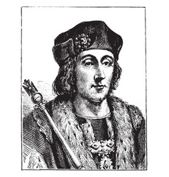 henry vii of england vintage vector image