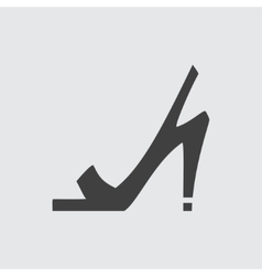 High heeled sandals icon vector image