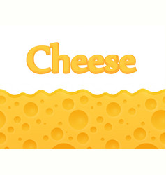 Horizontal seamless cheese background with copy vector