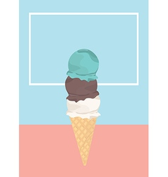 Icecream badge frozen sweets and cold summer vector