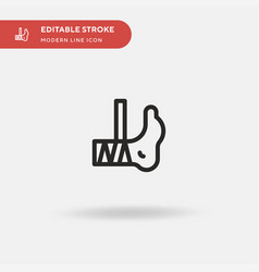 Injured simple icon symbol vector