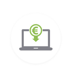 internet banking payments icon pictogram vector image