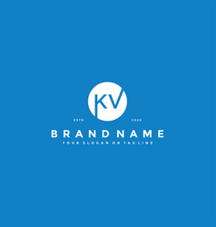 Letter kv logo design vector